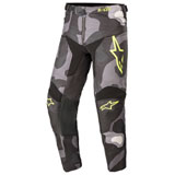 Alpinestars Youth Racer Tactical Pants Grey Camo/Yellow Fluo
