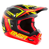 Answer Racing Evolve 4 17.5 MIPS Helmet Black/Red Acid
