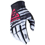 Answer Racing AR1 ProGlo Gloves White/Black/Pink