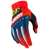 Answer Racing AR3 Korza Gloves Red/Midnight/Pro Yellow