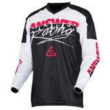 Answer Racing Syncron ProGlo Jersey White/Black/Pink