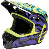 Answer Racing Youth AR1 Hypno By Muteon Helmet Hyper Acid/Astana/Dark Purple