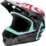 Answer Racing Youth AR1 Hypno By Muteon Helmet Seafoam/Air Pink/Tar