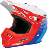 Answer Racing AR3 Pace Helmet White/Red/Hyper Blue