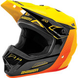 Answer Racing AR3 Pace Helmet Yellow/Black/Orange