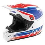 Answer Racing AR5 Korza MIPS Helmet White/Hyper Blue/Red