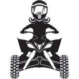 Attack Graphics Ride Life ATV Family Window Decal - Girl