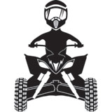 Attack Graphics Ride Life ATV Family Window Decal - Man