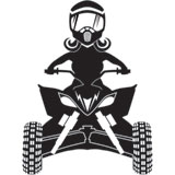 Attack Graphics Ride Life ATV Family Window Decal - Woman