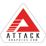 Attack Graphics Logo Sticker