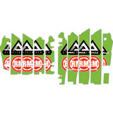 Attack Graphics Turbine Radiator Louver Decals Green