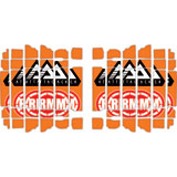 Attack Graphics Turbine Radiator Louver Decals Orange