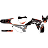 Attack Graphics Custom Blitz Complete Bike Graphics Kit Black/Dark Grey