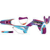 Attack Graphics Custom Blitz Complete Bike Graphics Kit Purple/Sea Blue