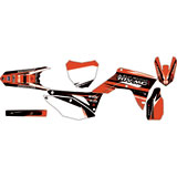 Attack Graphics Custom Blitz Complete Bike Graphics Kit Red/Black