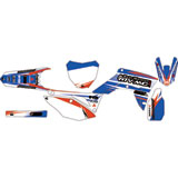 Attack Graphics Custom Blitz Complete Bike Graphics Kit White/WORCS Blue