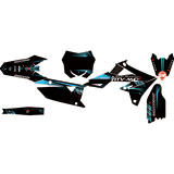 Attack Graphics Custom Alloy Complete Bike Graphics Kit Black/Baby Blue