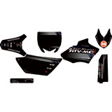 Attack Graphics Custom Alloy Complete Bike Graphics Kit Black/Dark Grey