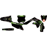 Attack Graphics Custom Alloy Complete Bike Graphics Kit Black/KX Green