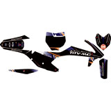 Attack Graphics Custom Alloy Complete Bike Graphics Kit Black/Navy