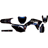 Attack Graphics Custom Alloy Complete Bike Graphics Kit Black/WORCS Blue