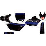 Attack Graphics Custom Alloy Complete Bike Graphics Kit Black/YZ Blue