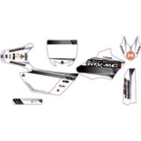 Attack Graphics Custom Alloy Complete Bike Graphics Kit White/Dark Grey