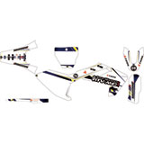 Attack Graphics Custom Alloy Complete Bike Graphics Kit White/Husky Blue