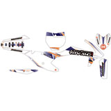 Attack Graphics Custom Alloy Complete Bike Graphics Kit White/Navy