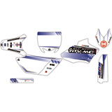 Attack Graphics Custom Alloy Complete Bike Graphics Kit White/YZ Blue