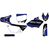 Attack Graphics Custom Blitz Complete Bike Graphics Kit YZ Blue/Black