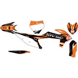 Attack Graphics Custom Blitz Complete Bike Graphics Kit Black/Orange