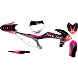 Attack Graphics Custom Blitz Complete Bike Graphics Kit Black/Pink
