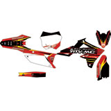 Attack Graphics Custom Blitz Complete Bike Graphics Kit Black/Red