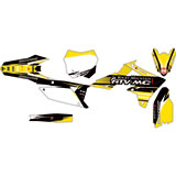 Attack Graphics Custom Blitz Complete Bike Graphics Kit Black/RM Yellow