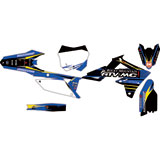 Attack Graphics Custom Blitz Complete Bike Graphics Kit Black/WORCS Blue