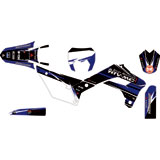Attack Graphics Custom Blitz Complete Bike Graphics Kit Black/YZ Blue
