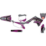 Attack Graphics Custom Blitz Complete Bike Graphics Kit Dark Grey/Purple