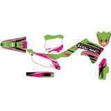 Attack Graphics Custom Blitz Complete Bike Graphics Kit KX Green/Pink