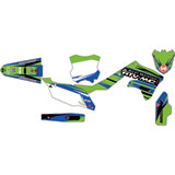Attack Graphics Custom Blitz Complete Bike Graphics Kit KX Green/WORCS Blue