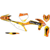 Attack Graphics Custom Blitz Complete Bike Graphics Kit Orange/Yellow