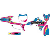 Attack Graphics Custom Blitz Complete Bike Graphics Kit Pink/Sea Blue
