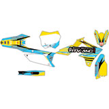 Attack Graphics Custom Blitz Complete Bike Graphics Kit RM Yellow/Baby Blue