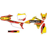 Attack Graphics Custom Blitz Complete Bike Graphics Kit RM Yellow/Red