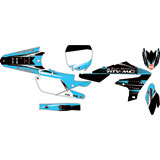 Attack Graphics Custom Blitz Complete Bike Graphics Kit Black/Baby Blue
