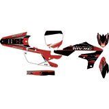 Attack Graphics Custom Blitz Complete Bike Graphics Kit Black/Brick Red