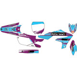 Attack Graphics Custom Blitz Complete Bike Graphics Kit Purple/Baby Blue