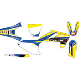 Attack Graphics Custom Blitz Complete Bike Graphics Kit RM Yellow/WORCS Blue