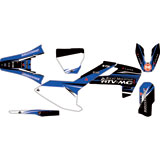 Attack Graphics Custom Blitz Complete Bike Graphics Kit WORCS Blue/Black