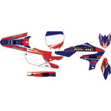 Attack Graphics Custom Blitz Complete Bike Graphics Kit YZ Blue/Red